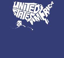 USA White Unisex T-Shirt