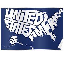 USA White Poster
