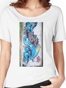Graffiti Wall. Women's Relaxed Fit T-Shirt