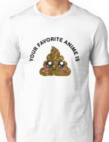 Your Favorite Anime - Black Text Unisex T-Shirt