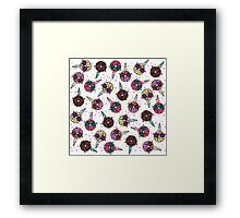 Funny Cute Colorful Unicorn Donut with Sunglasses Framed Print