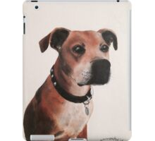 Staffordshire bull terrier painting oil on canvas iPad Case/Skin