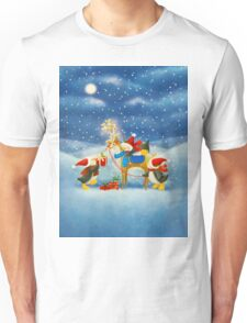 Penguin and Reindeer Unisex T-Shirt