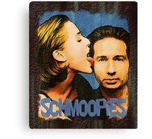 Gillian licks David's face / Schmoopies Canvas Print