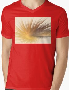 Gold Feather Plumes Mens V-Neck T-Shirt