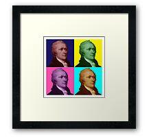 Alexander Hamilton Popart Framed Print