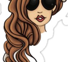 Lady Gaga Seashell Dreads Sticker