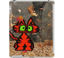 Cat Plays On A Fall Day iPad Case/Skin