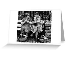 Knitting for the war Greeting Card
