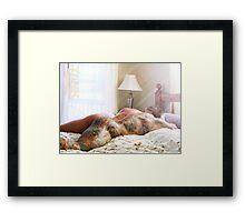 Tankjoey - cottage sun rays Framed Print