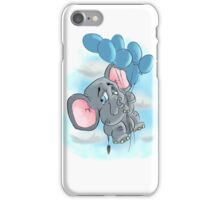 up and away elephant balloon iPhone Case/Skin