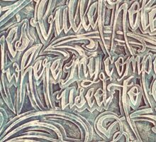 Nine Inch Nails lyrics My Violent Heart Sticker