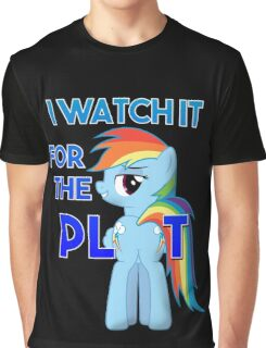 "My Little Pony Rainbow Dash Plot ""I Watch it for the Plot""  FIM Graphic T-Shirt"