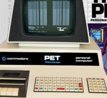 Commodore Pet Computer - Basic By Bill Gates. Sticker