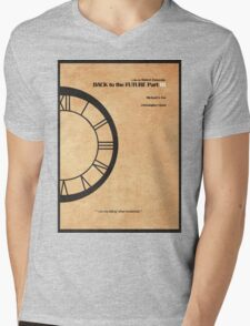 Back to the Future Part III Mens V-Neck T-Shirt