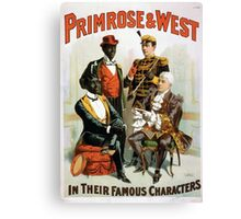 Performing Arts Posters Primrose West in their famous characters 1732 Canvas Print