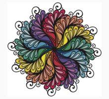 Rainbow flower One Piece - Short Sleeve