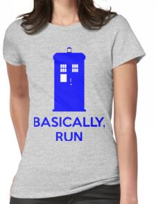 Basically, Run Womens Fitted T-Shirt