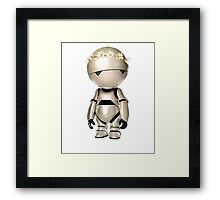 Marvin with flower crown Framed Print