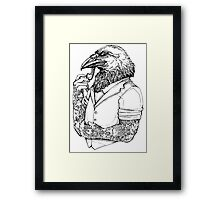 The Crow Man Framed Print