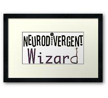 Neurodivergent Wizard Framed Print