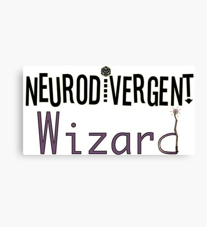 Neurodivergent Wizard Canvas Print
