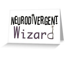 Neurodivergent Wizard Greeting Card