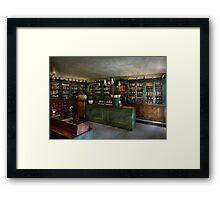 Pharmacy - The Chemist Shop  Framed Print