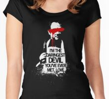 Supernatural Crowley  Women's Fitted Scoop T-Shirt