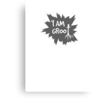 I Am Groot! - Gray Canvas Print