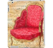 Vintage chair on parchment paper,elegant,rustic,grunge,beige iPad Case/Skin