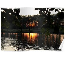 Sunset on a River Poster