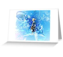 sora in beauty blue Greeting Card