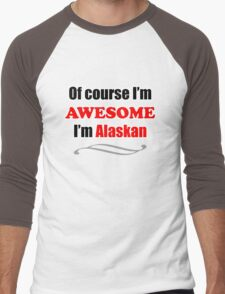 Alaska Is Awesome Men's Baseball ¾ T-Shirt