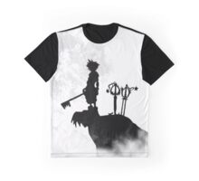black and white contrast sora keyblade hill Graphic T-Shirt