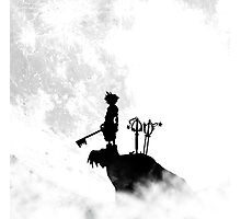 black and white contrast sora keyblade hill Photographic Print