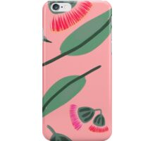 Pink eucalyptus blossoms iPhone Case/Skin