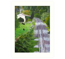 Omokoroa Railway Station, New Zealand Art Print