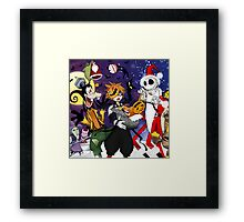 a nightmare before christmas sora and friends Framed Print