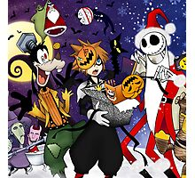 a nightmare before christmas sora and friends Photographic Print