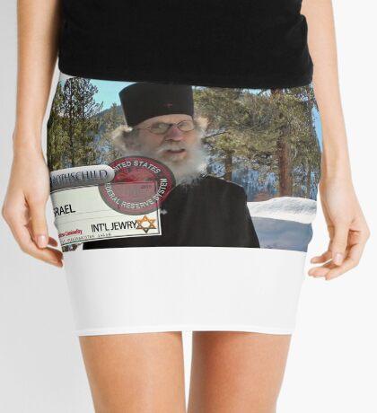 Brother Nathanael: Blank Check Mini Skirt