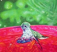 Hummingbird Bath in Sharpie by Justin McAllister