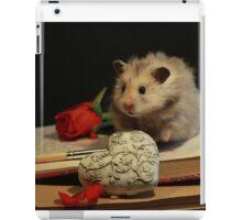 Hamster write a poem iPad Case/Skin