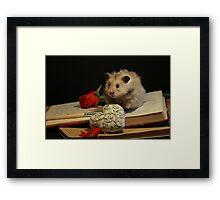 Hamster write a poem Framed Print