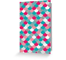 Scale Pattern Greeting Card