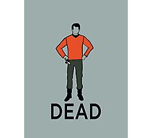 Dead Red Shirt Photographic Print