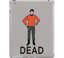 Dead Red Shirt iPad Case/Skin