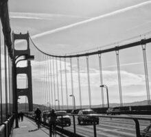 Summer day on the golden gate bridge, San Francisco Sticker