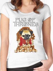 PUG OF THRONES Women's Fitted Scoop T-Shirt