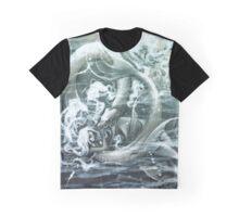 Mermaid and Seamonster Graphic T-Shirt